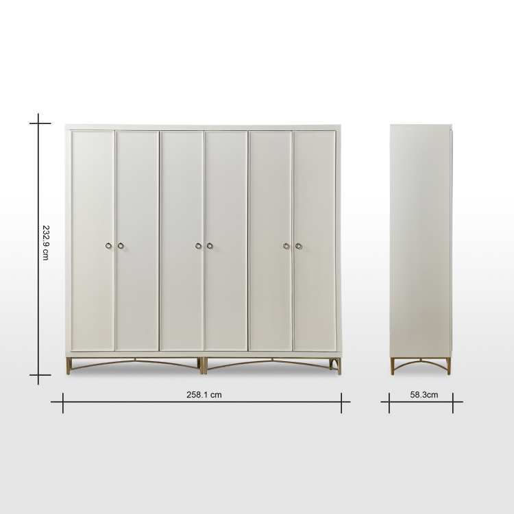 Adele 6-Door Wardrobe