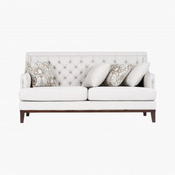 Sophia 2-Seater Tufted Sofa with Scatter Cushions
