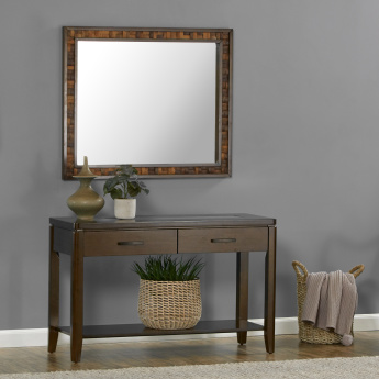 Gerard 2-Drawer Console Table with Mirror