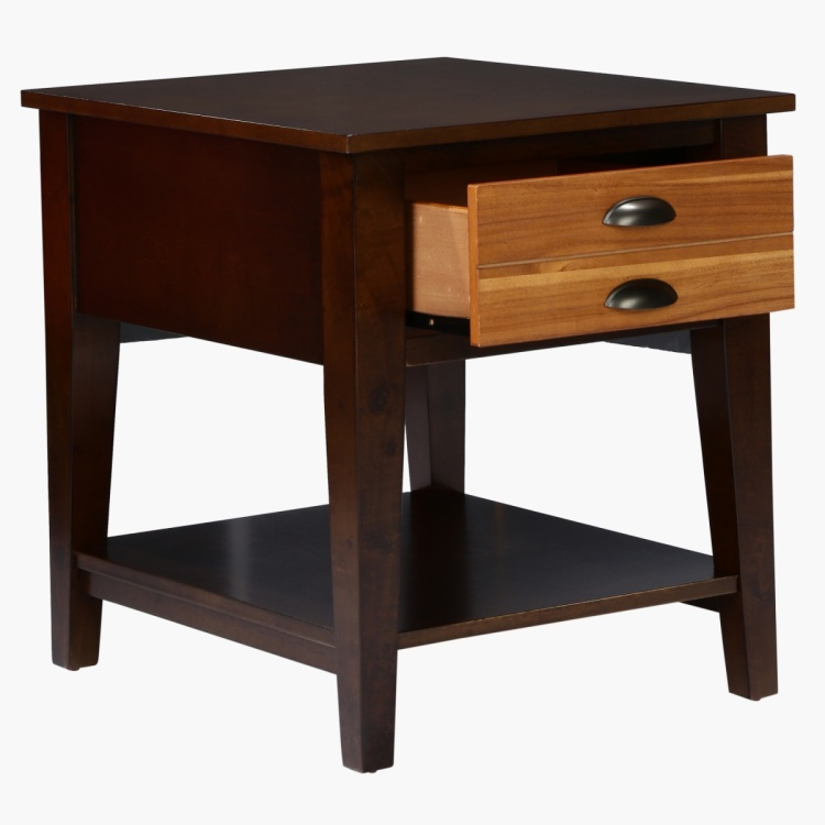 Espresso 2-Drawer End Table