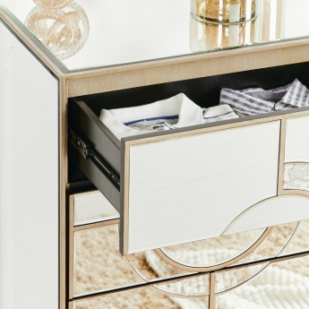 Mystique Mirrored Chest of 5-Drawers