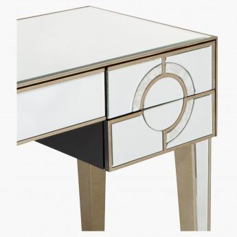 Mystique Mirrored 5-Drawer Dressing Table