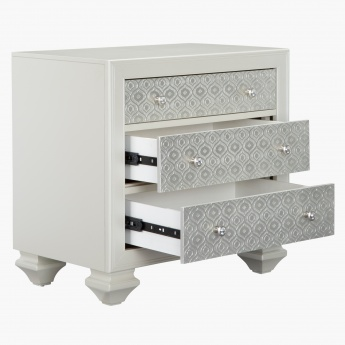 Taj 3-Drawer Nightstand
