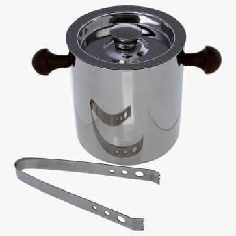 Classic Ice Bucket with Lid and Tongs - 1.5 L