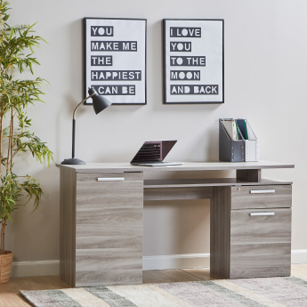 Flinstone 1 Drawer Desk with Door Cabinet