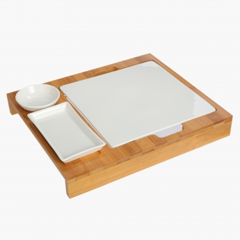 China Serving Set with Tray
