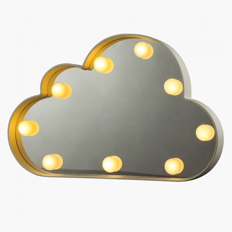 Cloud Shaped Battery Operated LED Wall Light