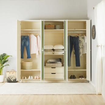 Celestia 6-Door Wardrobe with Mirror