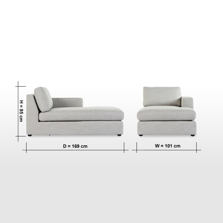 Eterno Right Fabric Chaise
