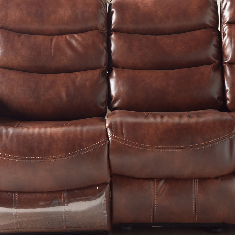 Chaplin 3-Seater Faux Leather Manual Recliners