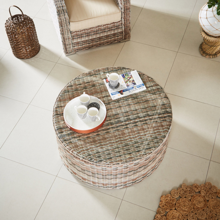 Tahiti Textured Round Coffee Table