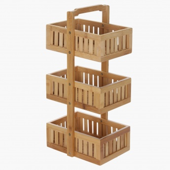 Daniel Bamboo 3-Tier Storage Tower