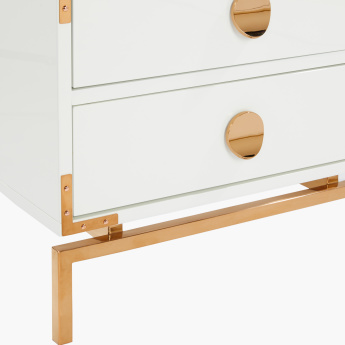Melrose High Gloss 2-Drawer Night Stand