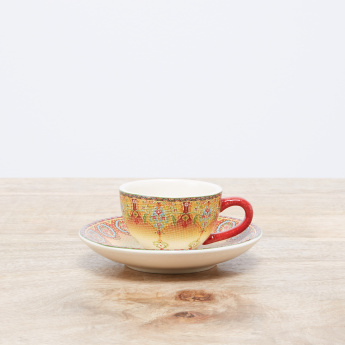 Ottoman Printed Cup and Saucer Set