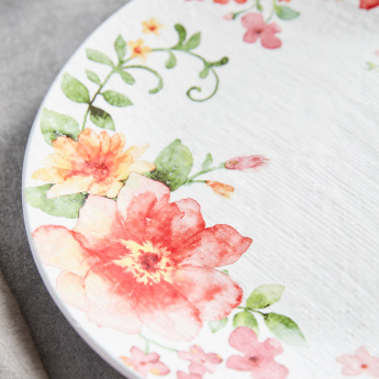 Floral Printed Round Dinner Plate - 27 cms