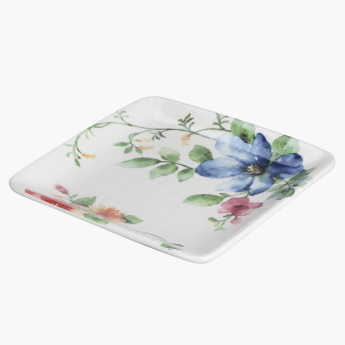Spring Flower Printed Square Plate
