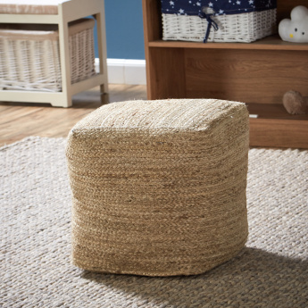 Cottage Square Cube Pouf