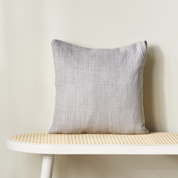 Eterno Textured Square Filled Cushion - 45x45 cm