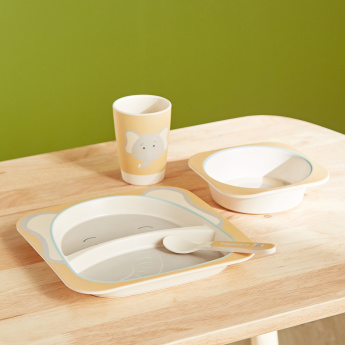 Giraffe Detail 4-Piece Feeding Set
