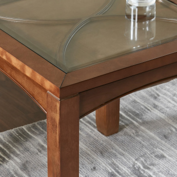 Darwin End Table with Glass Top