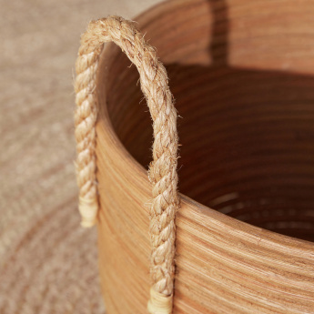 Yvonne Textured Basket with Handles