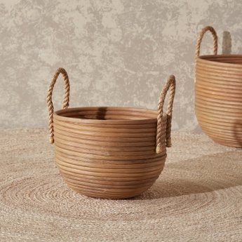 Yvonne Textured Basket with Side Handles
