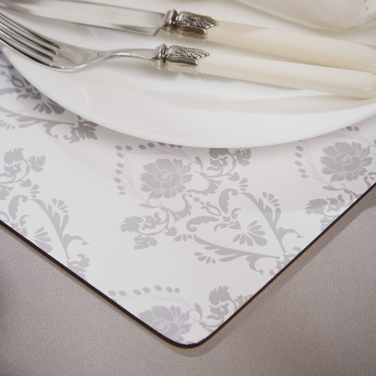 Sparkle Rose Printed Placemat - Set of 4