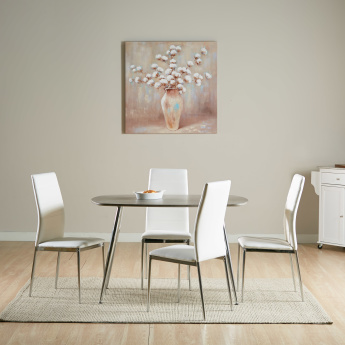 Warden 4-Seater Rectangular Dining Table Set