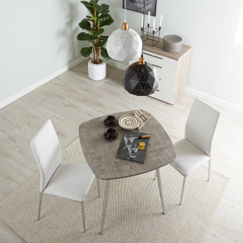 Warden 2-Seater Square Dining Table Set