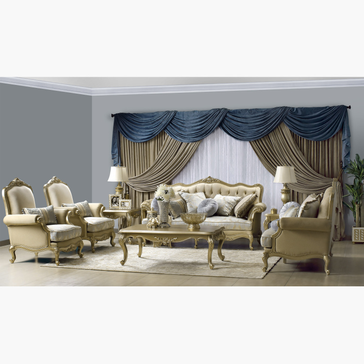 Monique 3+2+1+1 Seater Fabric Sofa Set