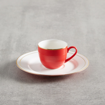 Annuum Round Cup and Saucer Set - 220 ml