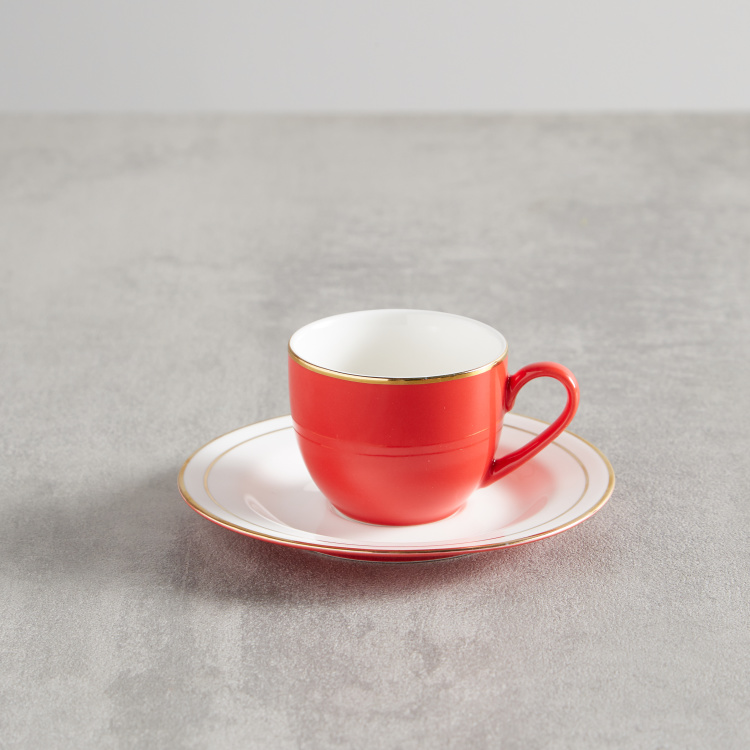 Annuum Espresso Cup and Saucer Set - 90 ml