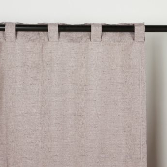 Babry Textured 2-Piece Curtain Set - 135x300 cms