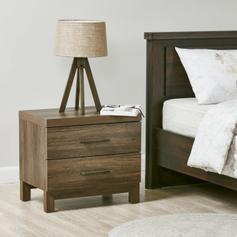 Sleek Rectangular 2 Drawers Night Stand