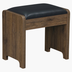 Rectangular Sleek Cushioned Stool