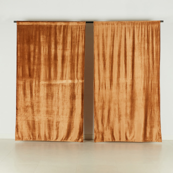 Manzar Textured Curtain Pair - 135x240 cms
