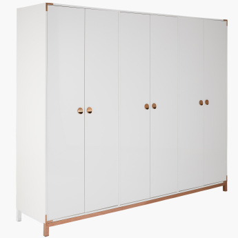 Melrose 6-Door Wardrobe with Adjustable Shelves and 2 Drawers
