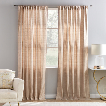 Textured 2-Piece Curtain Set - 135x240 cms