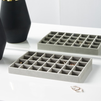 Flosci 28-Compartment Jewellery Tray