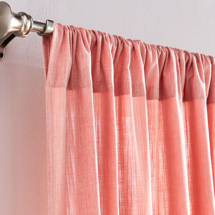 Two Way Slub Curtain Pair - 140x240 cms