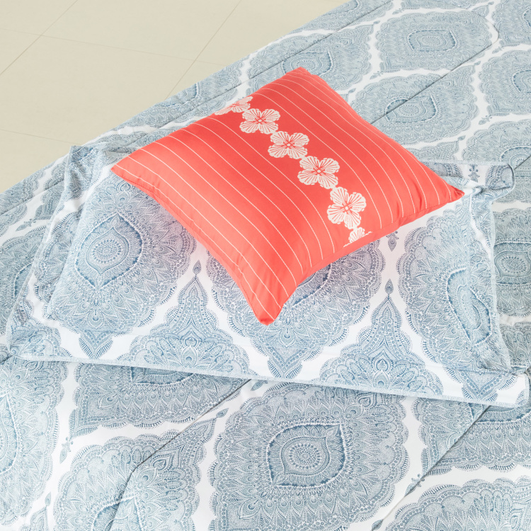 Tapys Quilted Printed 5-Piece Comforter Set
