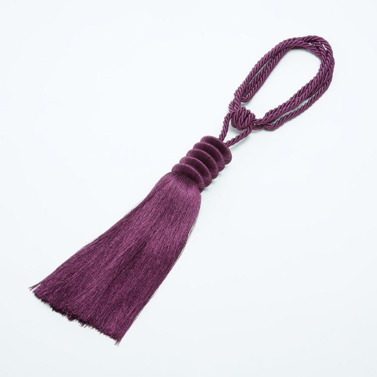 Curtain Tie-Back with 5-Disk and Tassel