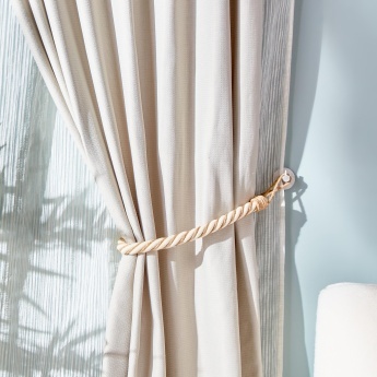 Natural Textured Rope Curtain Tieback