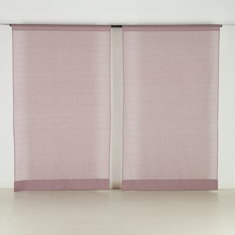 Katie Textured Curtain Pair - 137x300 cms