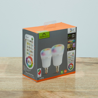 iDual 2-Piece C-Type LED Bulb with Remote Control