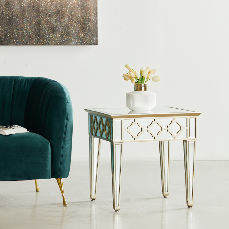 Casablanca End Table with Mirror Top