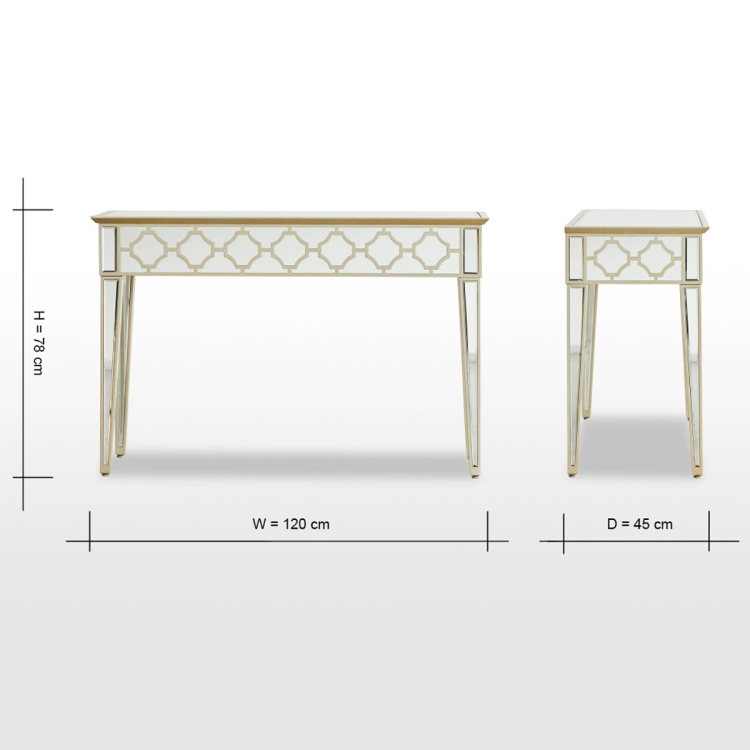 Casablanca Console Table with Round Mirror