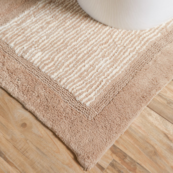 Geo Striped 2-Piece Bathmat and Contour Set