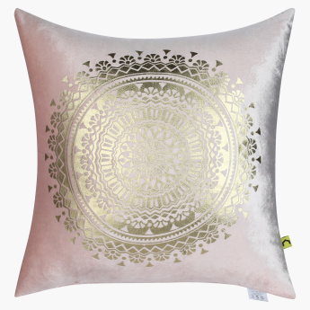 Boho Medallion Printed Filled Cushion - 45x45 cms