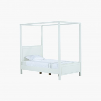 Addison 4-Poster Full Canopy Bed - 120x200 cms